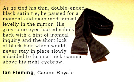 james bond bow tie casino royale