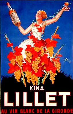 A traditional Kina Lillet poster
