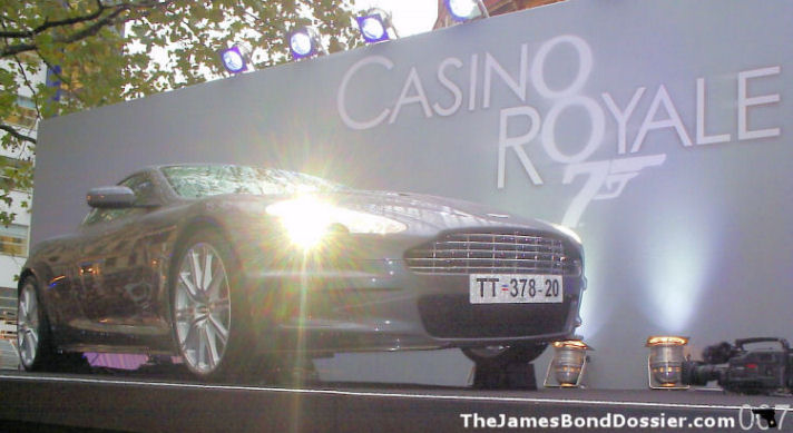 James Bond's Aston Martin in Leicester Square on the day of the world premier of Casino Royale