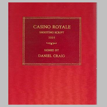 Casino Royale shooting script - signed by Daniel Craig