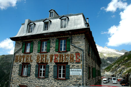Hotel Belvedere on the Furka Pass