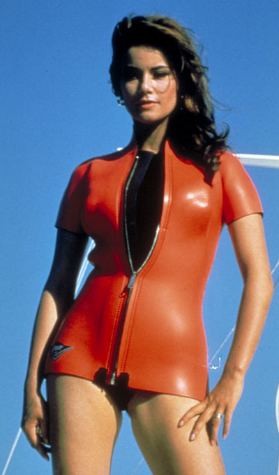 Photo: publicity still of Claudine Auger in Thunderball.
