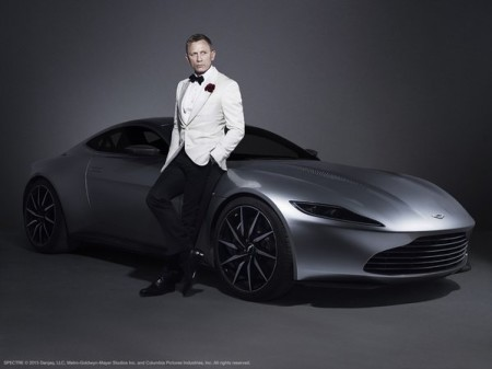 Daniel Craig with the Aston Martin DB10