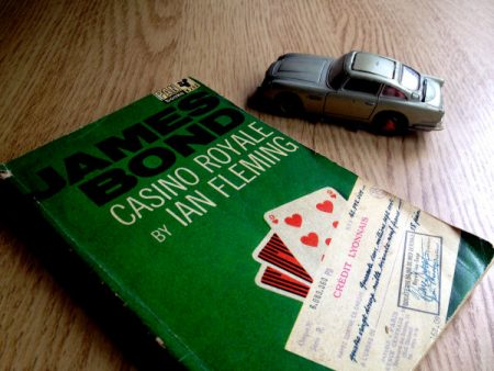 Casino Royale paperback and Corgi DB5