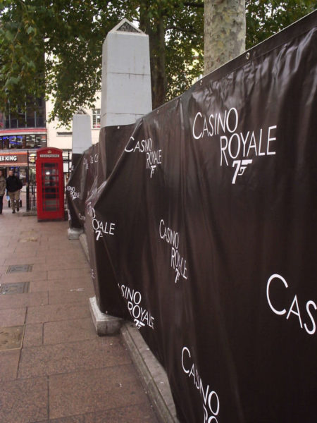 Leicester Square decorated for Casino Royale
